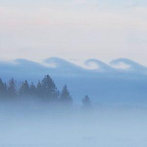 Kelvin Helmholtz clouds near Sandpoint, Idaho.