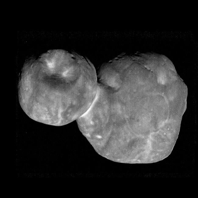 Asteroid with two lumpy round lobes.