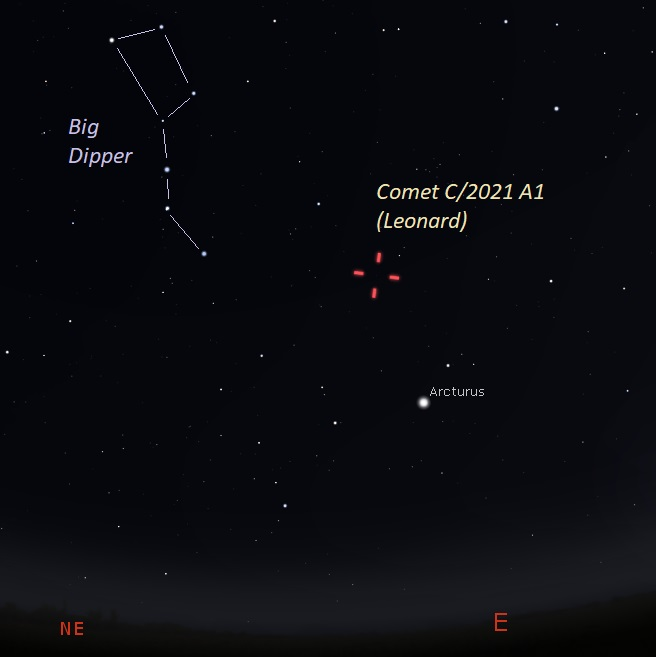 Christmas Comet 2021 Time Newly Found Comet Leonard Might Become 2021 S Brightest Astronomy Essentials Earthsky