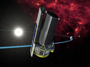 Artist's concept of a telescope in space.