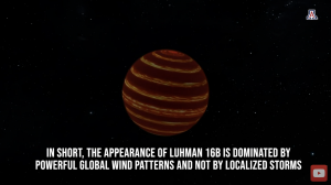 Artist's concept of stripes and bands in Luhman 16B's atmosphere.