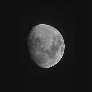 Large moon more than halfway toward full.