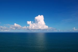 Clouds over the Atlantic Ocean.
