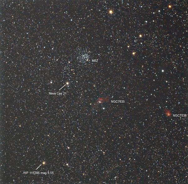 Звездное поле с более ярким светом называется новой.
