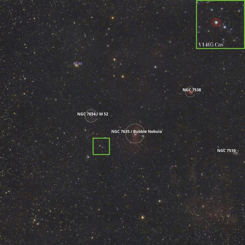 Звездное поле с надписью «Новая».