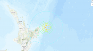 Map of New Zealand earthquake epicenter.