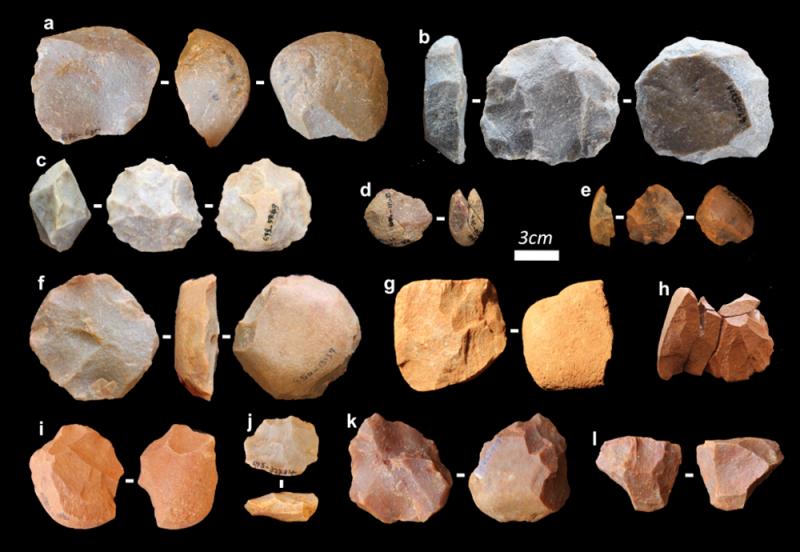 Rows of small sharp-edged rocks.