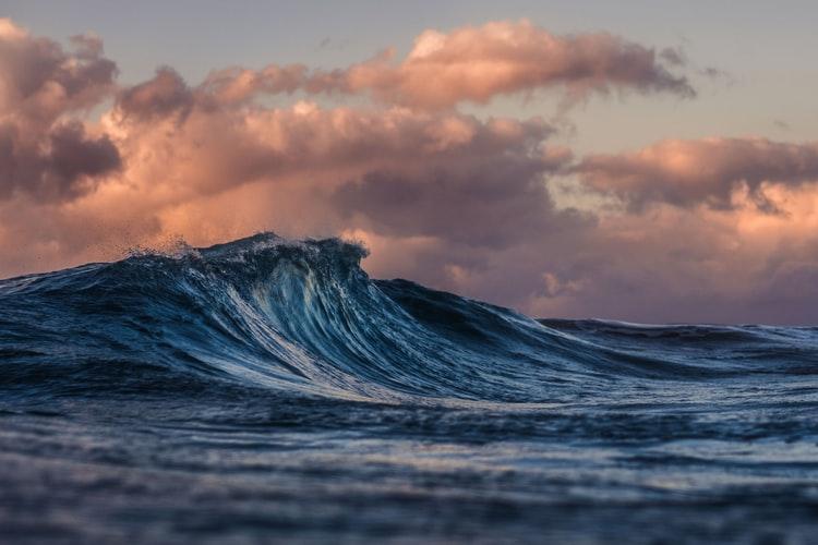 The 2021 IPCC report: Ocean wave.