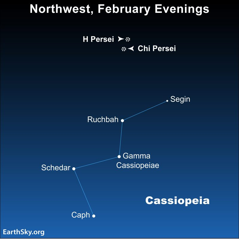 Star chart of Cassiopeia the Queen
