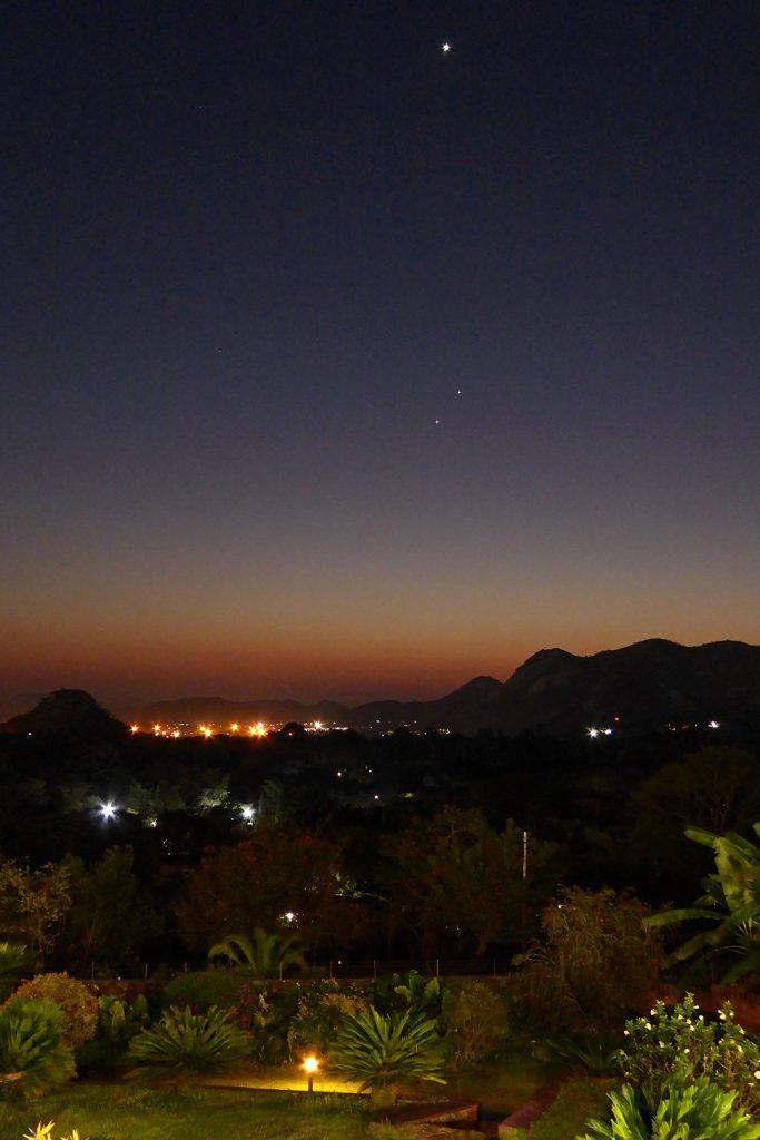Venus above Spica and Mercury.