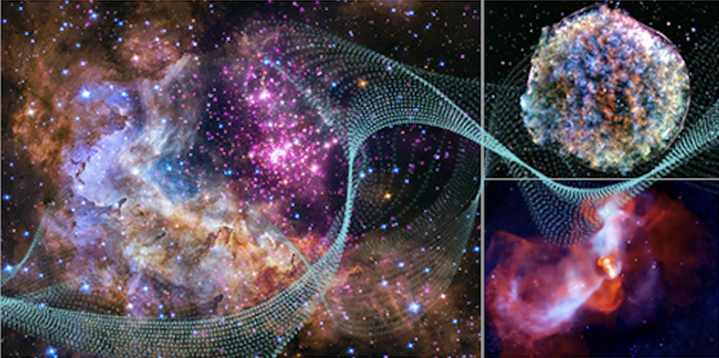 Sounds of space: Graphic depicting the cosmos.